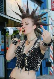Punk-rock camgirl